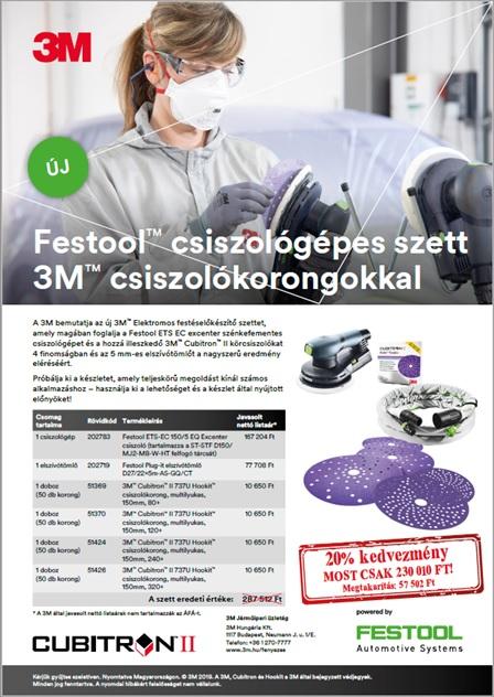 Nyári csiszológépes Festool - 3M szett akció!