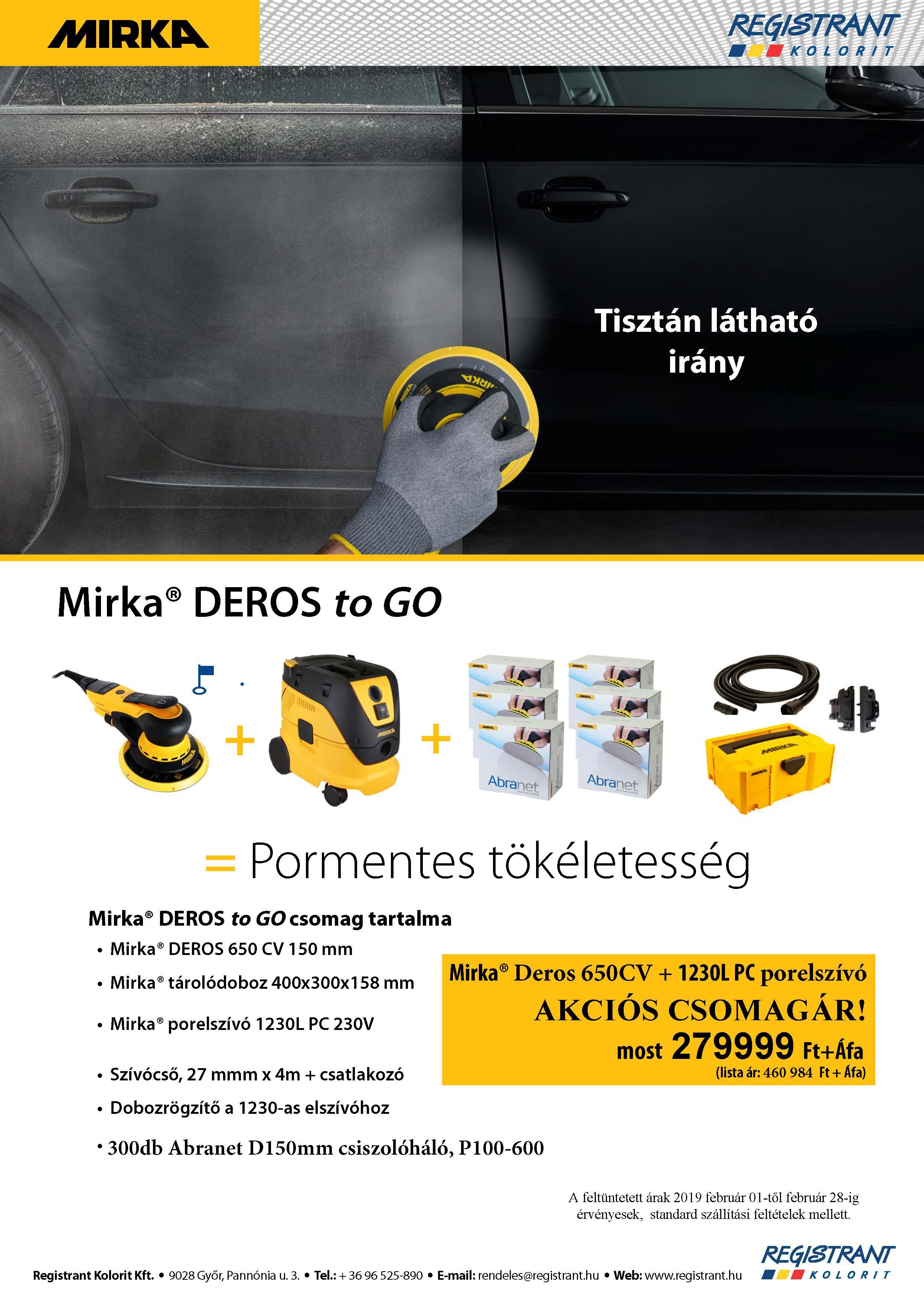 Mirka Deros to Go akció!